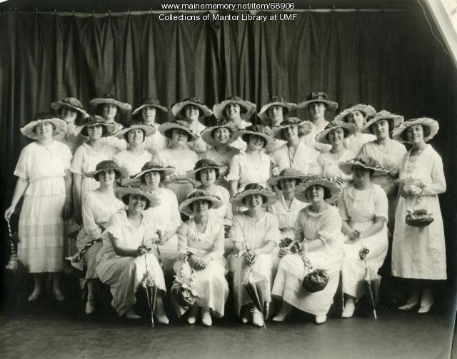 """Gayety Girls,"" Farmington State Normal School, 1920"
