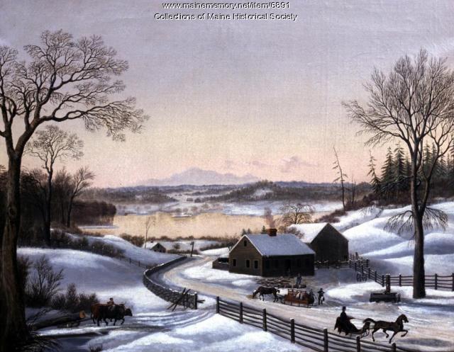 Winter scene near Portland