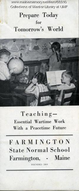 Cadet Teaching Brochure, Farmington State Normal School, ca. 1944