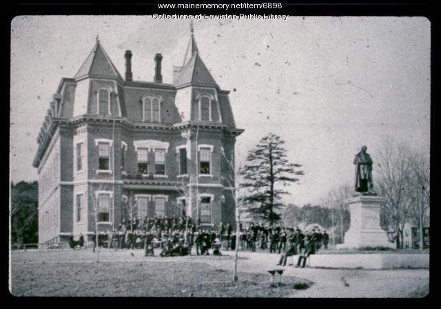 Edward Little High School, Auburn, ca. 1874
