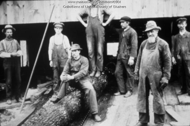 Hired men, Sabbathday Lake, ca. 1895