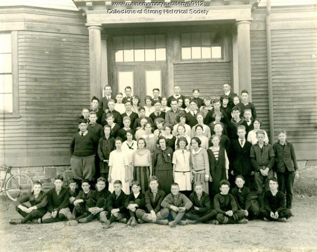 Strong School students, Grades 8-12, Strong, ca. 1923