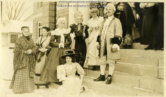 George Washington costume party, Farmington State Normal School, 1916
