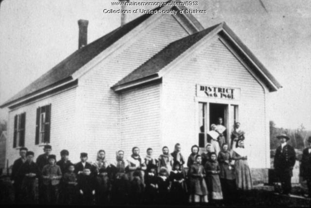 Students, teachers, Alfred Shaker Village, 1885