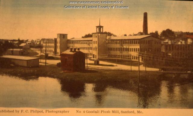 No. 4 Goodall Plush Mill, Sanford, ca. 1915