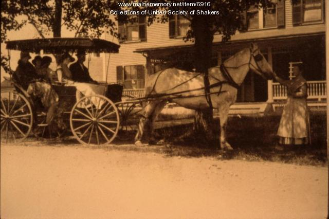 Going for a Surrey Ride, Alfred Shaker Village, ca. 1918