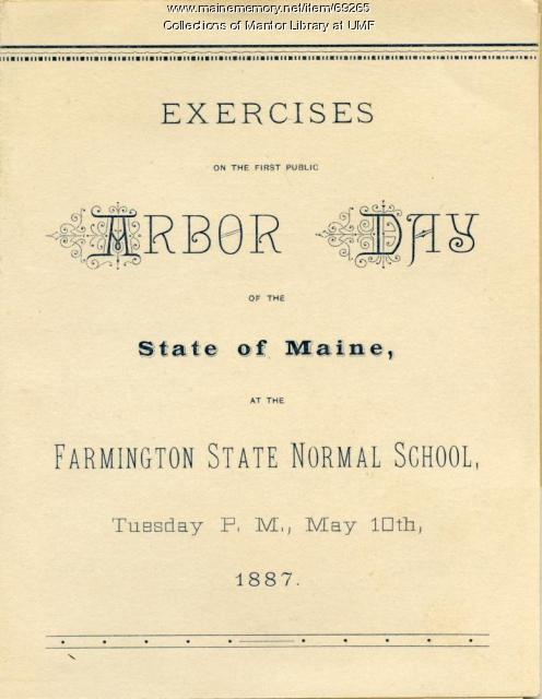 Arbor Day Program, Farmington State Normal School, 1887