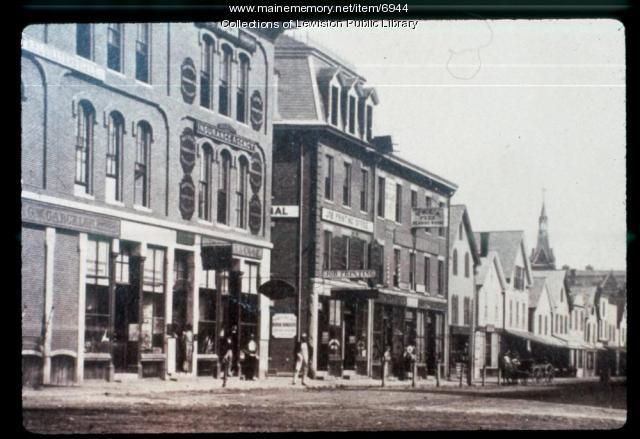 Lisbon Street, Lewiston, pre-1890