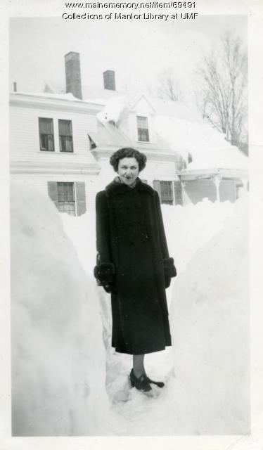 Miss Benjamin, Farmington State Teachers College, 1952