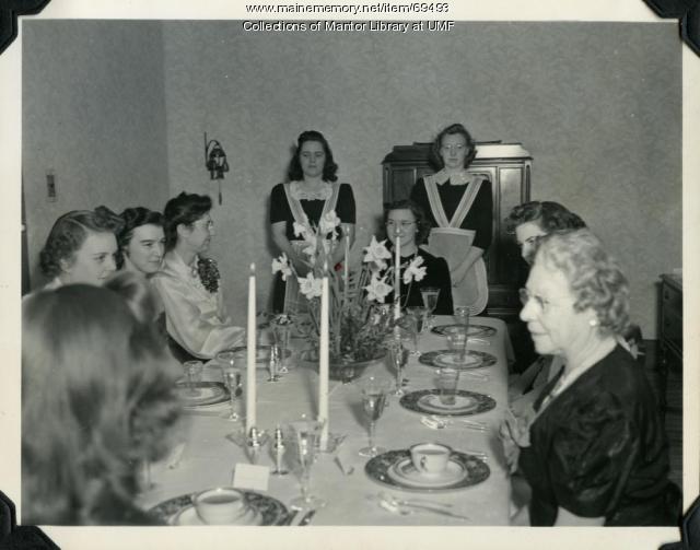 Home Ec Formal Dinner, Farmington State Normal School, ca. 1942