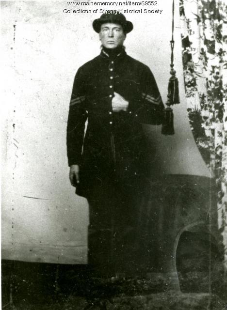 Corporal John K. Richards, Civil War soldier, ca. 1864
