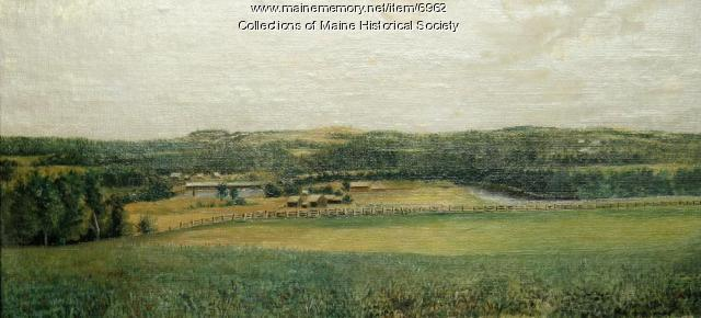 North Anson landscape, ca. 1870