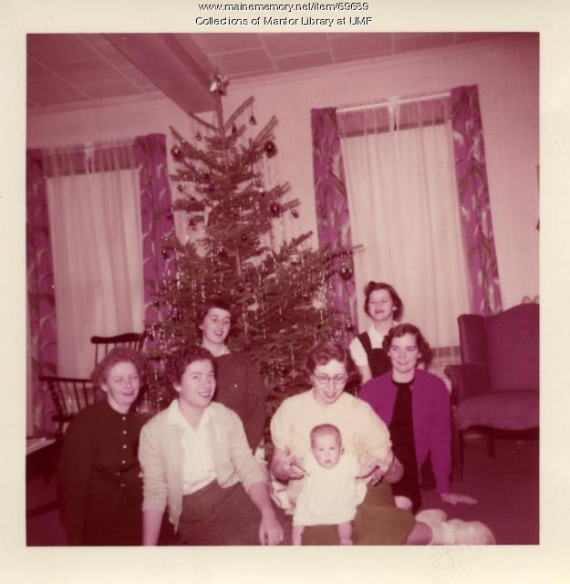 Home Ec Christmas, Farmington State Teachers College, 1957