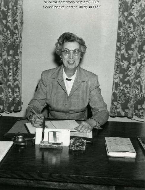 Mabel Hastie, Farmington State Teachers College, ca. 1954