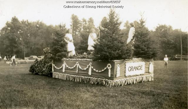 Aurora Grange #202 Parade Float, Strong, ca. 1936