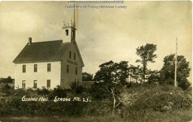 Aurora Grange Hall, Strong, ca. 1910