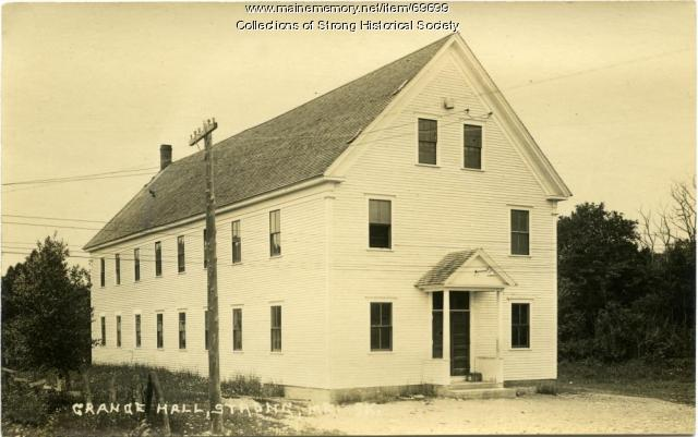 Aurora Grange Hall, Strong, ca. 1921