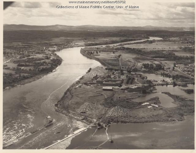 Aerial View of Eastern Fine Paper, Brewer, 1930
