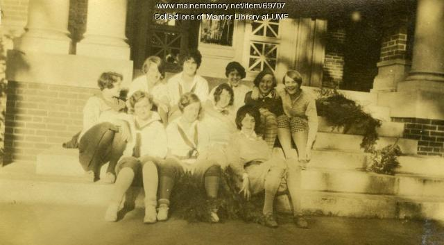 Third floor inmates, Farmington State Normal School, ca. 1928