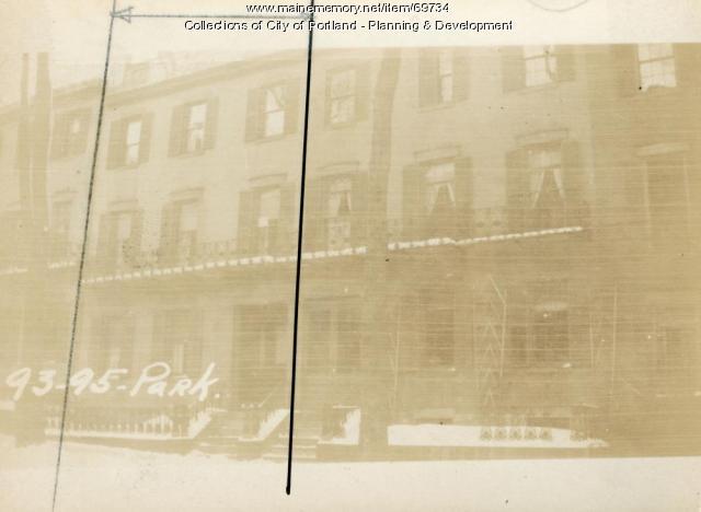 93 Park Street, Portland, 1924