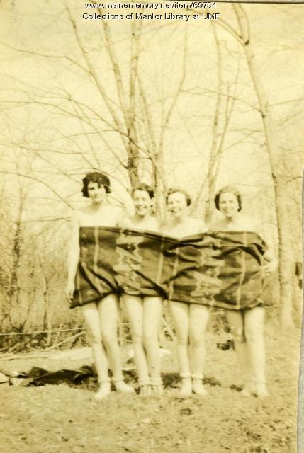 Swimming at Clearwater Pond, Industry, 1929