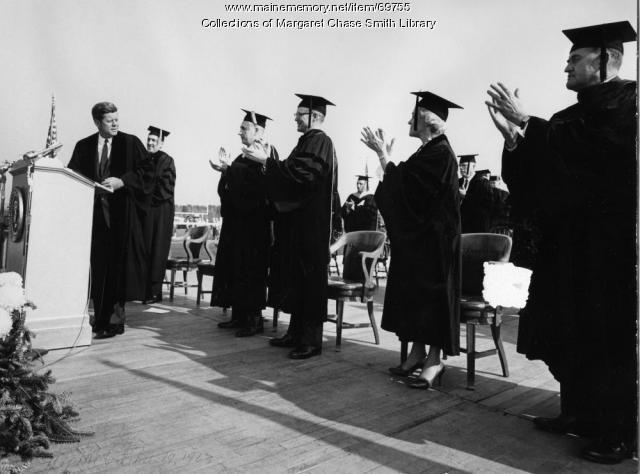 President John F. Kennedy, Orono, 1963