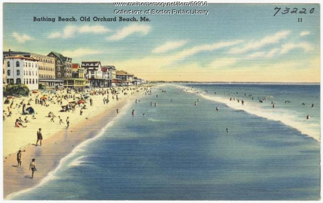 Bathing beach, Old Orchard Beach, ca. 1938