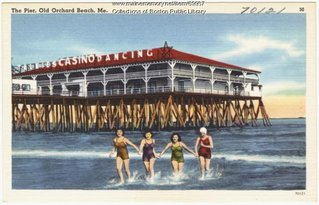 The Pier Old Orchard Beach Ca 1938