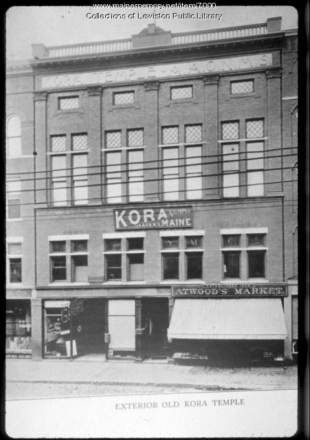 Kora Temple, Atwood's Market, Lewiston
