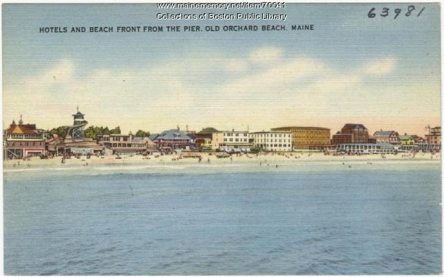 View from the pier, Old Orchard Beach, ca. 1938