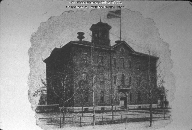 Frye School, Lewiston, ca. 1870
