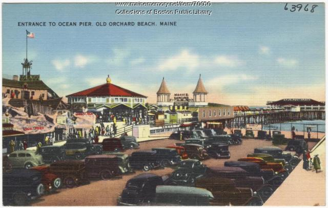 Entrance to Ocean Pier, Old Orchard Beach, ca. 1938