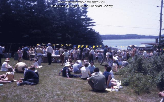 Fourth of July lobster bake, Swan's Island  ca. 1960