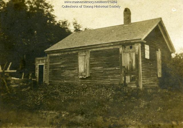 Dyar rural school building, Strong, ca. 1910
