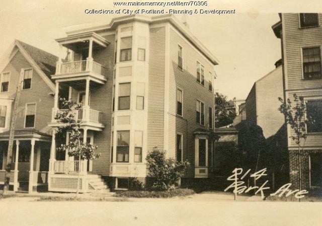 214 Park Avenue, Portland, 1924