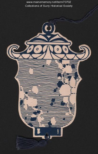 The Blue Lantern tag, Surry, ca. 1946