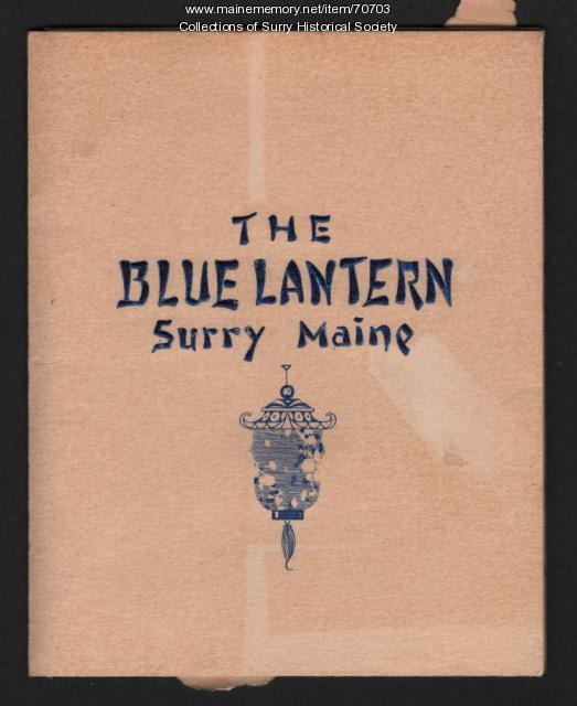 The Blue Lantern map book cover, Surry, ca. 1946
