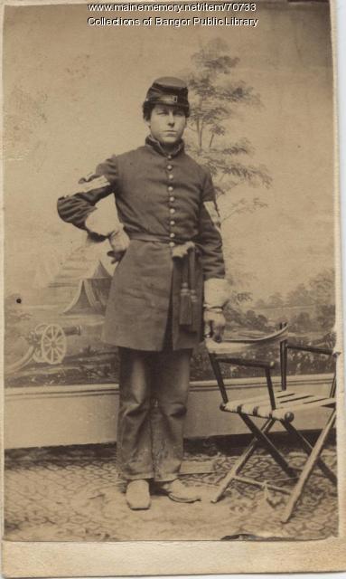 Civil War Infantry first sergeant, Bangor ca. 1861