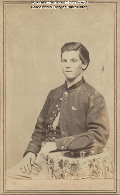 Civil War infantry soldier, Vassalboro,  ca. 1864