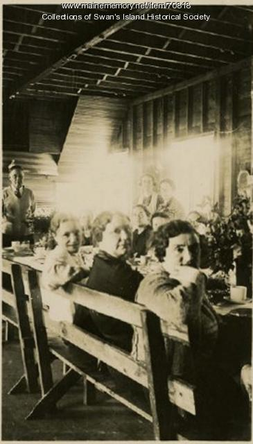 Ladies Aid meeting, Swan's Island, ca. 1940