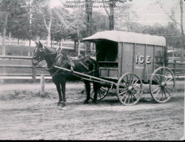 Ice Wagon, Lewiston, ca. 1900