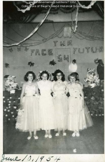 Eighth grade graduation, Swan's Island, 1954