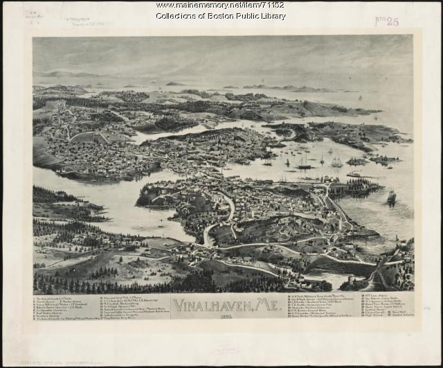 Bird's eye view, Vinalhaven, 1893