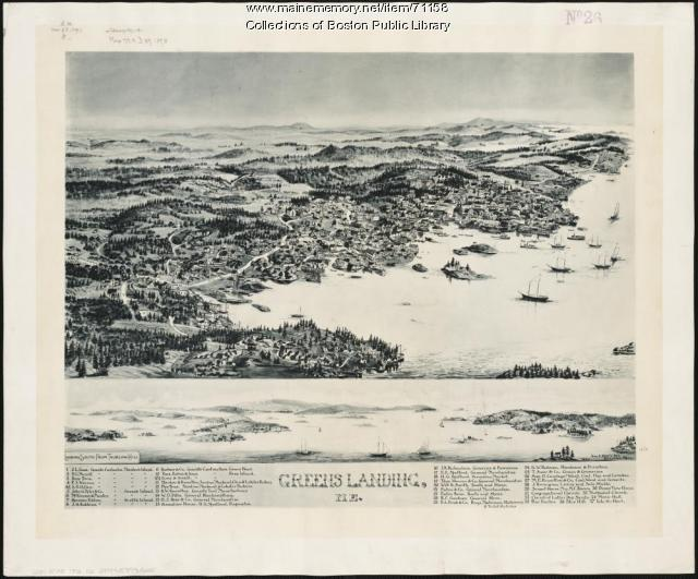 Birds-eye view of Stonington, 1893