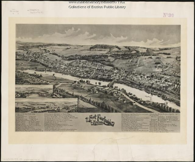 Fort Fairfield bird's-eye view, 1893