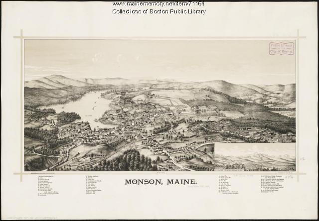 Monson bird's-eye view, 1889