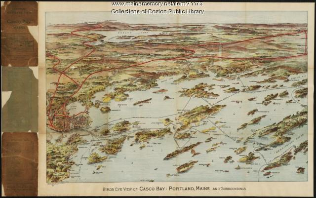 View of Portland and Casco Bay, 1906