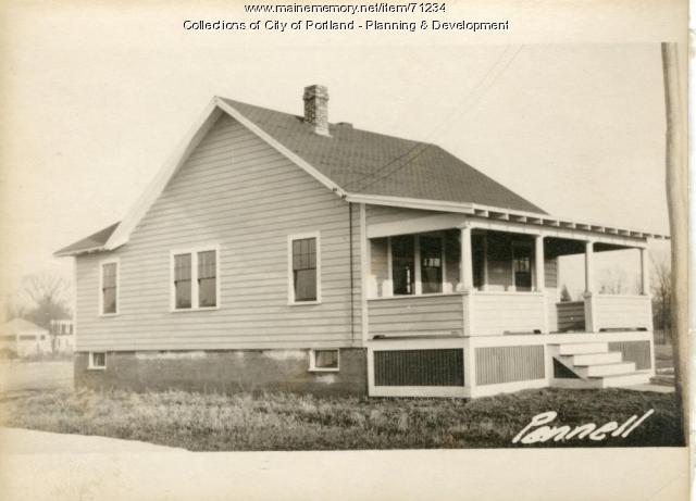 Dwelling, Pennell Avenue, Portland, 1924