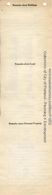 Assessor's Record, 43-45 Pleasant Avenue, Portland, 1924