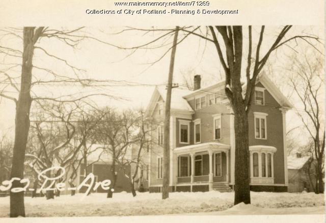 52 Pleasant Avenue, Portland, 1924
